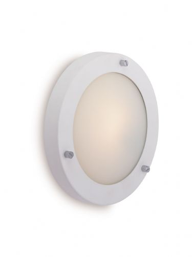 Firstlight 2745WH Matt White with Opal Glass Rondo Wall / Flush Fitting